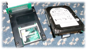 Photo of Syba Dual Compact Flash and a 2.5 inch hard disk drive
