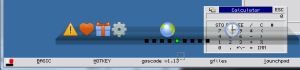 Screen dump of Q-Dock and Q-Bar