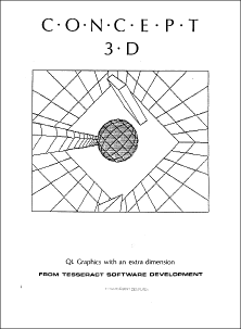 Picture of cover of Concept 3D software manual