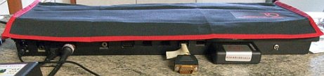 Picture of dust cover, view from rear of QL