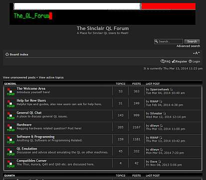 Picture of QL Forum index page
