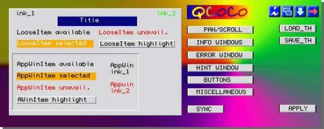 Screen dump of the Q-CoCo program