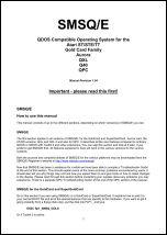 SMSQ/E manual cover