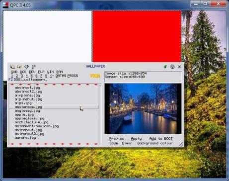 Wallpaper program running on QPC2