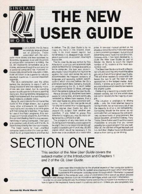 QL New User Guide
