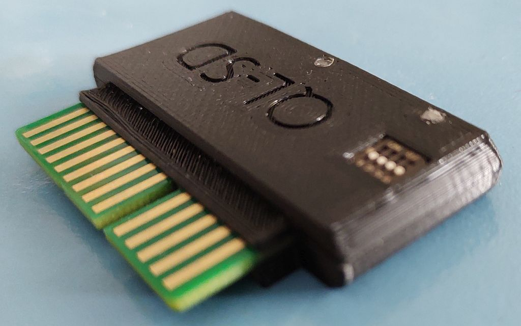 Picture of QL-SD-ROM in a compact 3d printed case.